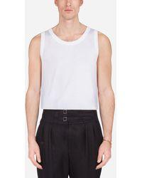 Dolce & Gabbana Cotton Jersey Vest - Weiß