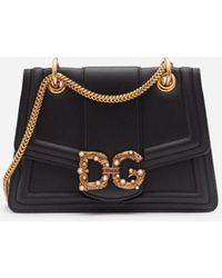 Dolce & Gabbana Dg Amore Bag In Calfskin - Schwarz