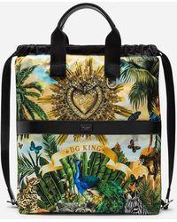 Dolce & Gabbana - Zaino In Nylon Stampa Tropical King - Lyst