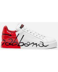 3b70ceed9c Dolce & Gabbana - Portofino Sneakers - Lyst