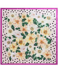 Dolce & Gabbana Camellia-print Twill Scarf (90 X 90) - Multicolour