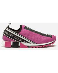 Dolce & Gabbana Branded Sorrento Sneakers - Pink