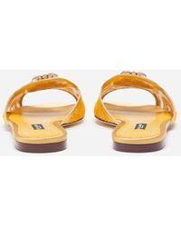 Dolce & Gabbana Slippers In Pizzo Con Cristalli - Multicolore