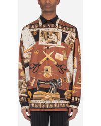 Dolce & Gabbana Tailor-Print Silk Hawaiian Shirt - Multicolore