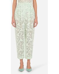 Dolce & Gabbana Lace Pants With Darts - Multicolore