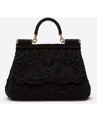 Dolce & Gabbana - Medium Cordonetto Lace Sicily Bag - Lyst
