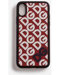 Dolce & Gabbana - Rubber Dg Mania Iphone X Case - Lyst