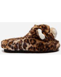 Dolce & Gabbana - Faux Fur Slippers - Lyst