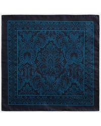 Dolce & Gabbana Einstecktuch Aus Seide Barock-Print - Blau