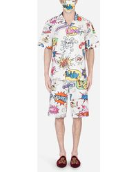 Dolce & Gabbana Wow-Print Pajama Set With Matching Face Mask - Mehrfarbig