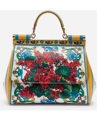 Lyst - Dolce   Gabbana Medium Sicily Handbag In Dauphine Leather in ... e676e54827014