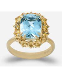 Dolce & Gabbana Ring Heritage Aus Gelbgold, Aquamarin Und Gelben Saphiren - Mettallic
