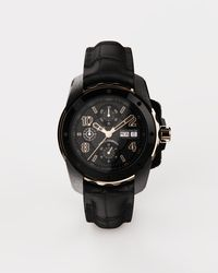 Dolce & Gabbana Ds5 Watch In Red Gold And Steel With Pvd Coating - Black