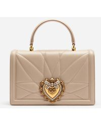 Dolce & Gabbana Big Devotion Bag In Matelasse' Nappa - Neutro