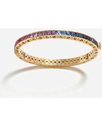 Dolce & Gabbana Multicolor Sapphire Bracelet - Mettallic