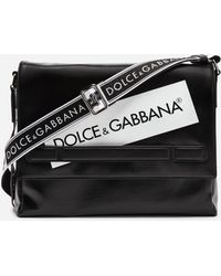 Dolce & Gabbana - Coated Canvas Mediterraneo Messenger Bag - Lyst