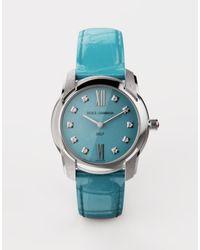 Dolce & Gabbana Orologio Dg7 In Acciaio Con Turchese E Diamanti - Blu