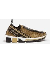 Dolce & Gabbana - Sorrento Sneakers With Fusible Crystals - Lyst
