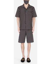 Dolce & Gabbana Pin-Stripe Pajama Set With Matching Face Mask - Mehrfarbig