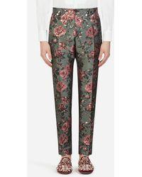Dolce & Gabbana Floral Jacquard Pants - Multicolor