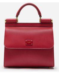 Dolce & Gabbana Sicily 58 Mini Bag In Calfskin - Rojo
