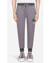 Dolce & Gabbana - Jogginghose Aus Jersey Mit Patch - Lyst