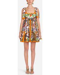 Dolce & Gabbana - Majolica Print Cotton Dress - Lyst