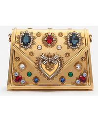Dolce & Gabbana Small Metallic Devotion Bag With Bejeweled Detailing - Mehrfarbig