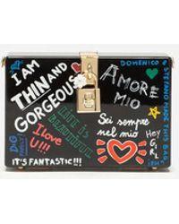 Dolce & Gabbana Clutch Dolce Box Mit Murales-Print - Schwarz