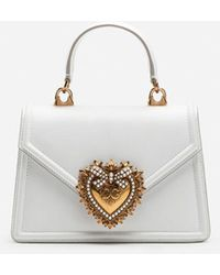 Dolce & Gabbana Borsa Devotion Piccola In Vitello Liscio - Bianco