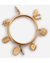 Dolce & Gabbana Bracelet With Charms - Metallic