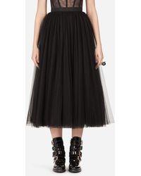 Dolce & Gabbana Circle Tulle Skirt - Black