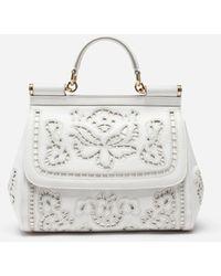 Dolce & Gabbana - Bolso Sicily Mediano En Napa Tallada - Lyst
