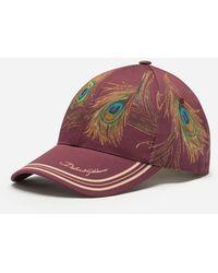 Dolce & Gabbana - Feather-print Baseball Cap - Lyst