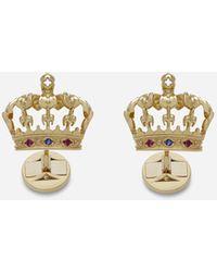 Dolce & Gabbana Crown Cufflinks - Metallic