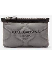 Dolce & Gabbana Flat Palermo Tecnico Belt Bag In Nylon With Logo Print - Schwarz