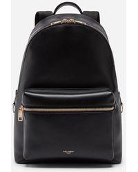 Dolce & Gabbana Calfskin Vulcano Backpack - Noir
