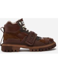 Dolce & Gabbana Trekking Shoes With Logo - Brown