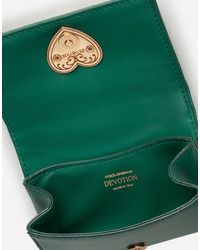 Dolce & Gabbana Devotion Micro Bag In Quilted Nappa Leather - Vert