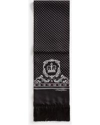 Dolce & Gabbana Silk Scarf In Bandana Print - Black