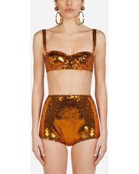 Dolce & Gabbana Sujetador Balconette De Lentejuelas - Naranja