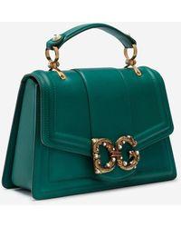 Dolce & Gabbana Dg Amore Bag In Calfskin - Mehrfarbig