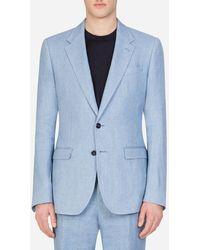Dolce & Gabbana Linen Taormina Shirt - Blau