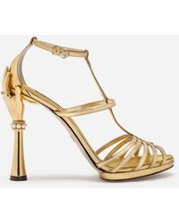 Dolce & Gabbana Damen Pumps Kalbsleder Pony Leo Print