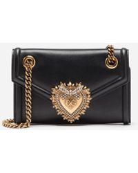 Dolce & Gabbana Devotion Wallet On Chain Leather Black