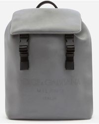 Dolce & Gabbana Palermo Reflector Backpack In Scuba Fabric With Printed Logo - Multicolour