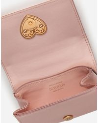 Dolce & Gabbana Devotion Micro Bag In Quilted Nappa Leather - Rose