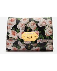 Dolce & Gabbana Mini Tasche Welcome Aus Bedrucktem Kalbsleder - Mehrfarbig