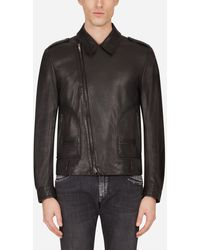 Dolce & Gabbana Leather Jacket - Noir