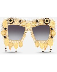 Dolce & Gabbana Gafas De Sol Devotion - Metálico